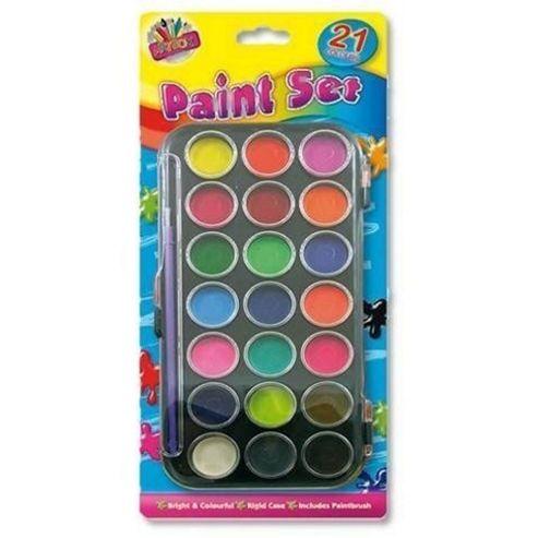 Kids Create 21 Piece Paint And Brush Palette Set