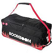 Boom Boom Huge Travel Cricket Wheelie Bag Triple Wheeled Black And Red