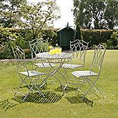 Gloucester 4 Seat White Cast Iron Round Garden Set