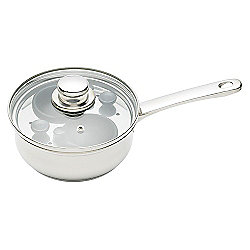 Kitchencraft Clearview Stainless Steel 2 Hole Egg Poacher 16cm KCCVPOACH2