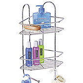 Corner - Metal Bathroom Wall Storage Shelf Caddy - Silver