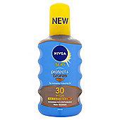 Prot&Bronze Oil Spray Spf30 200Ml