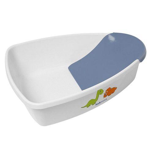 buy safetots dinosaur baby bath white with blue removable. Black Bedroom Furniture Sets. Home Design Ideas