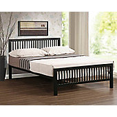 Meridian Straight Edge Modern Design Black Metal Bed Frame 4FT Small Double