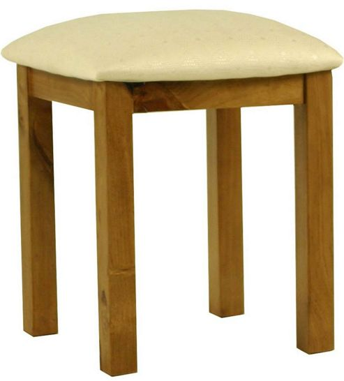 Kelburn Furniture Pine Stool in Antique Wax Lacquer