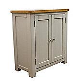 Aspen Painted Sage Grey Oak Cupboard / Oak Cabinet