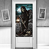 Halloween Door & Window Decs Cemetery Door Decoration