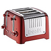 Dualit 46211 4 Slot Metallic Lite Toaster - Red