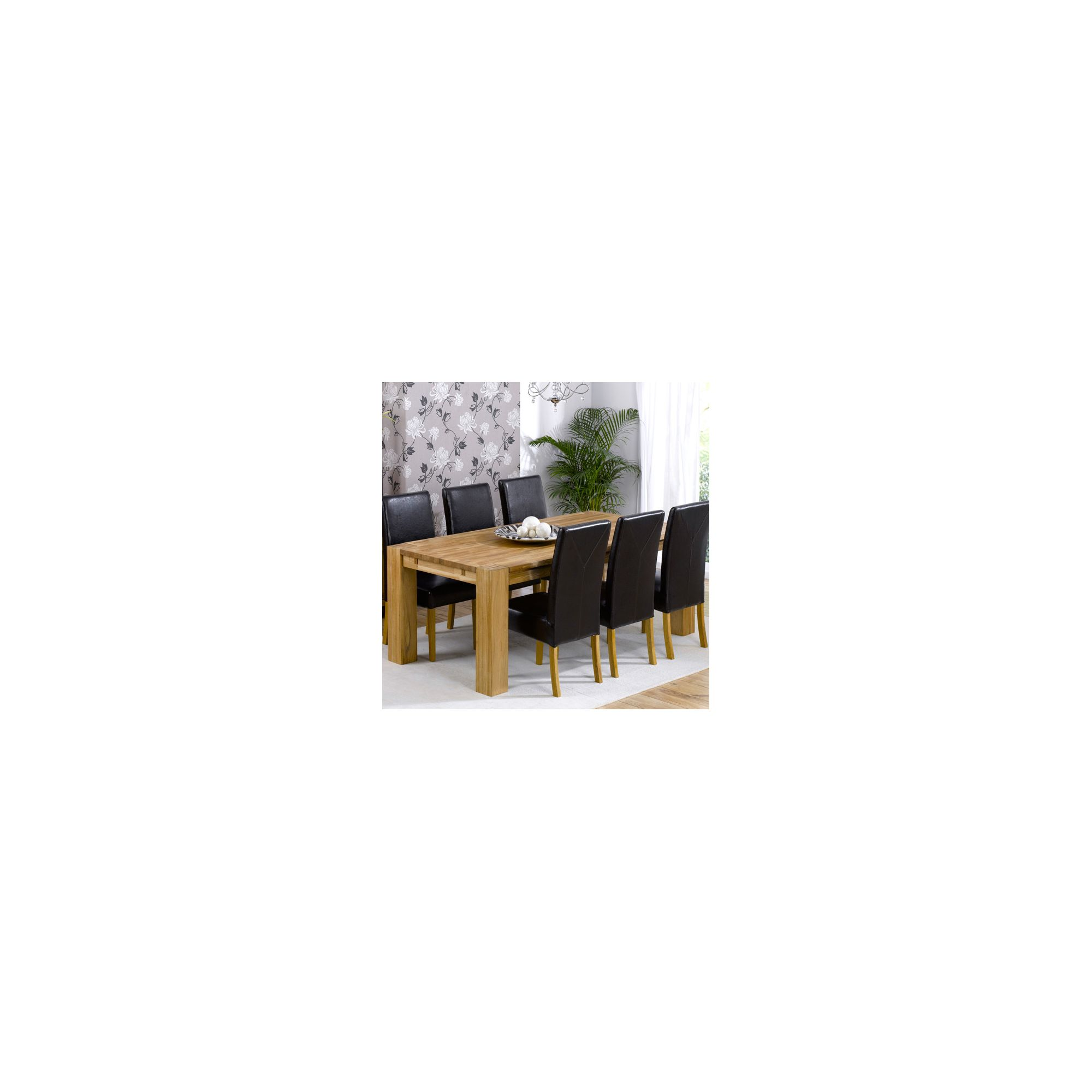 Mark Harris Furniture Madrid Chunky Solid Oak Dining Table with Rustique Chairs