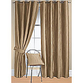 Jazz Ready Made Eyelet Curtain - Beige
