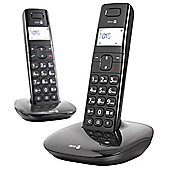Doro Comfort 1010 Cordless Twin Phone - Black