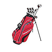 Prosimmon V7 Golf Package Set & Stand Bag Mrh +1 Inch Longer Stiff Red