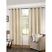 KLiving Manhattan Plain Panama Unlined Eyelet Curtain 45 x 72 Cream