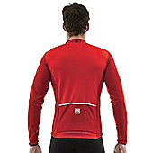 SP 2160 75 TEMPO - Santini Tempo Long Sleeve Jersey Red 2Xlarge