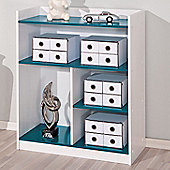Aspect Design Franzisk Kidz - Line Shelf Unit - White / Petrol Blue