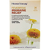 Higher Nature Feverfew Migraine Relief 30 Capsules