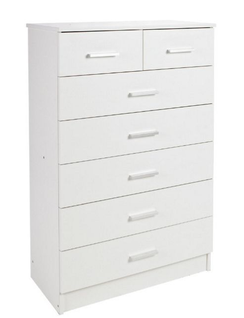 Kit Form Bella 7 Drawer Chest - White