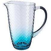 Hammered effect  acrylic jug clear turquoise tint