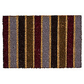 Tesco PVC Backed Coir Mat 40 x 60cm - Stripe