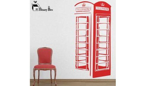 London Phone Box Wall Sticker