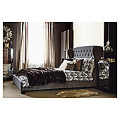 Henley King Bedframe, Charcoal