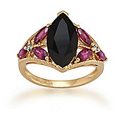Gemondo Gold Plated Silver 2.75ct Spinel, 0.87ct Rhodolite & 1.6pt Diamond Ring