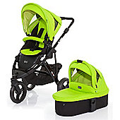 ABC Design Cobra 3 in 1 Pushchair & Carrycot (Black/Lime)