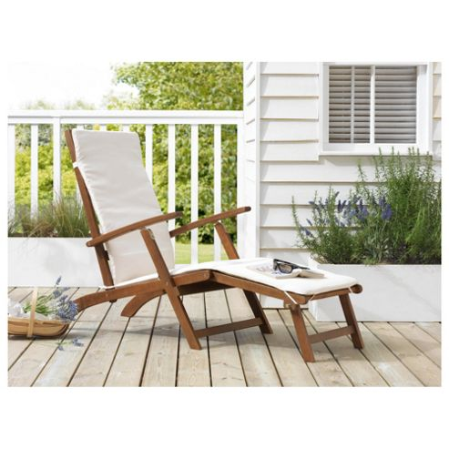 Windsor Wooden Steamer Lounger & Cushion