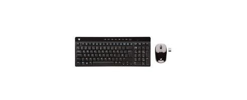 V7 Wireless 2.4GHz Multimedia Keyboard (Black) and Optical Mouse (Black/Silver) - UK CBID:1668041