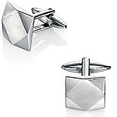 Fred Bennett Sculpted Stainless Steel Square Cufflinks