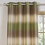 Julian Charles Soho Green Luxury Jacquard Eyelet Curtain -229x137cm