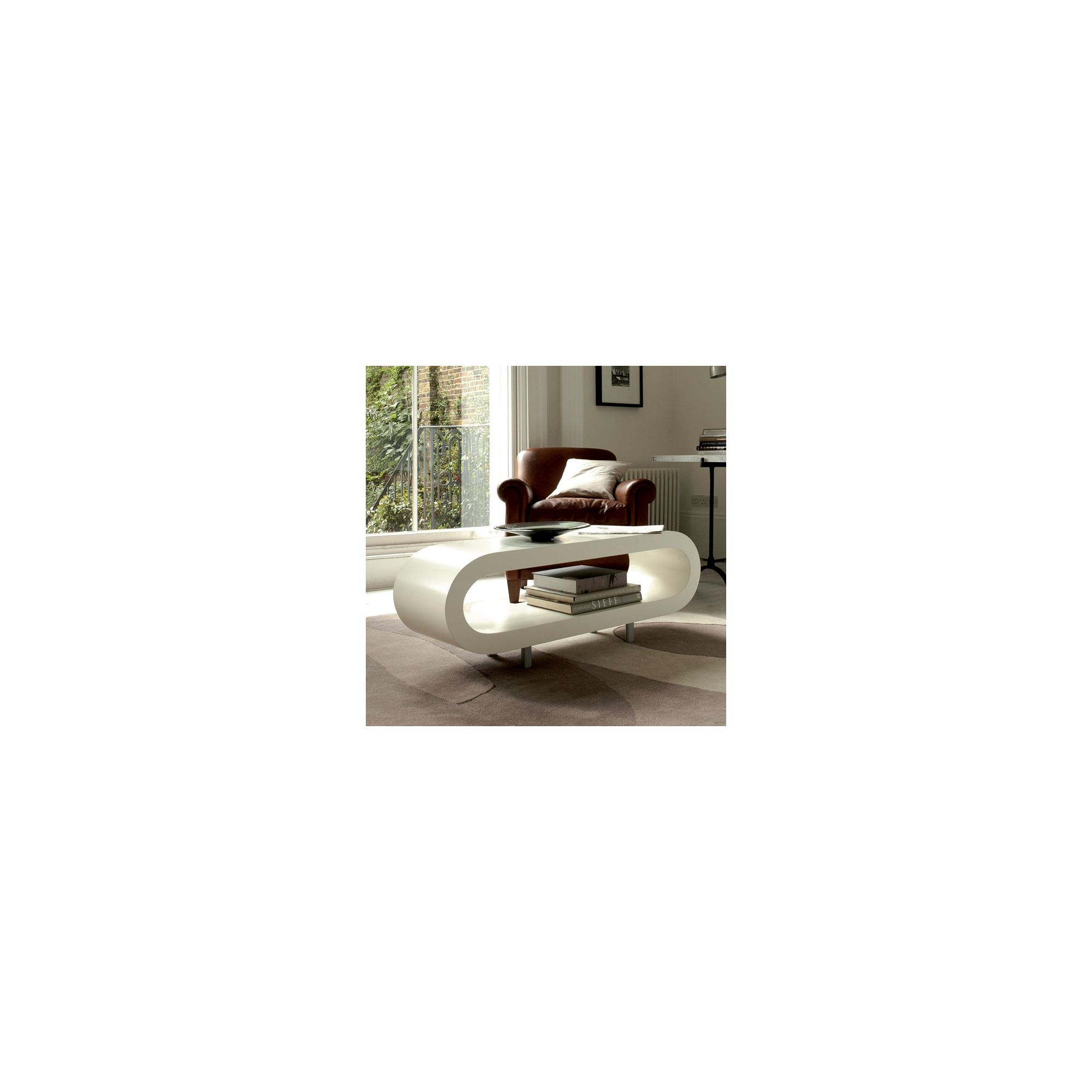 Gillmore Space Loopy Coffee Table - White at Tesco Direct