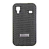 Samsung SAMACECCBK Galaxy Ace Black Metal Look Cool Case
