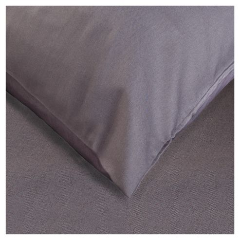 Tesco 4 Set of Pillowcases, Charcoal Quartz