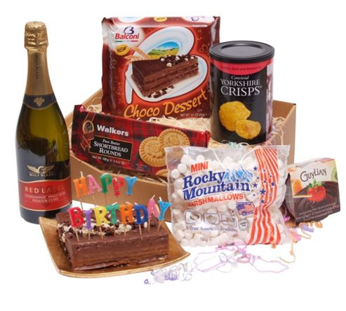birthday tea hamper with bubbly (TB22)