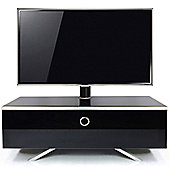 MDA Designs Cubic Hybrid Complete High Gloss Black Cantilever TV Stand
