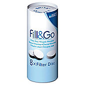 BRITA Fill&Go Water Filter Cartridges, 8-Pack
