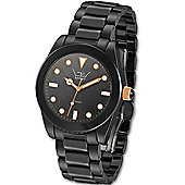 LTD Ladies Black Ceramic MOP Dial Watch LTD030626