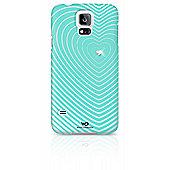 White Diamonds Heartbeat Clip Case for Galaxy S5