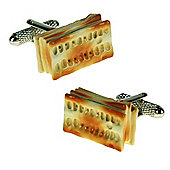 Cream Crackers Novelty Food Cufflinks