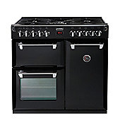 Stoves RICHMOND 900DFT BLACK 900mm Dual Fuel Range Cooker FSD Multi-Function Black