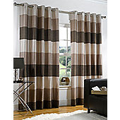 Rio Ready Made Eyelet Lined Curtains - Brown