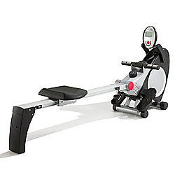PureFitness & Sports Rowing Machine with Hand Pulse