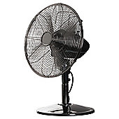 "Tesco 12"" Metal Desk Fan, 3 Speed - Gun Metal Grey"