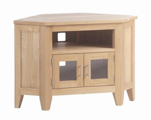 Kelburn Furniture Carlton Ash Corner TV Stand - Glass Doors