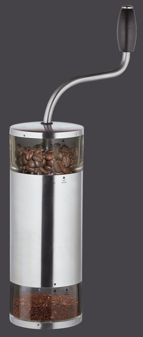 Zassenhaus Lima Stainless Steel and Acrylic Coffee Mill