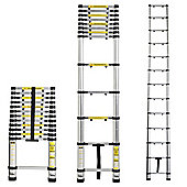 VonHaus 2.6M Telescopic Ladder