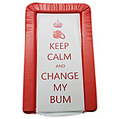 Babywise Baby Changing Mat - Keep Calm & Change My Bum (Red)