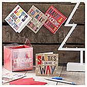 Bright Text Christmas Cards, 20 pack