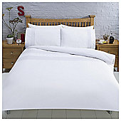 Pinktuck Bands Duvet Set , - White